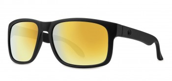 FILTRATE - CONTINENTAL MATTE BLACK/GOLD MIRROR POLARIZED ONE SIZE