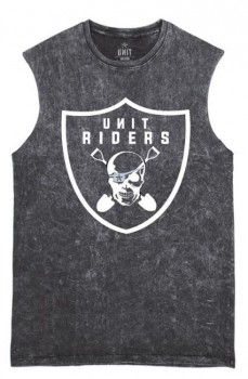 UNIT - RIDERS MUSCLE TEE BLACK S