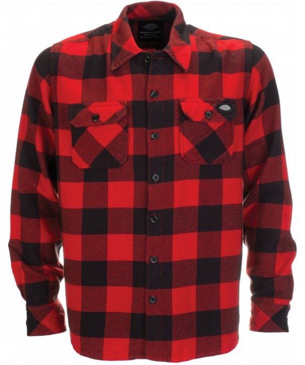 DICKIES - SACRAMENTO FLANNEL RED M