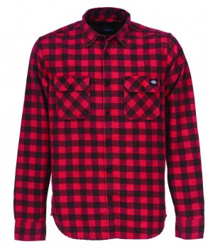 DICKIES - ROCK HALL FLANNEL RED