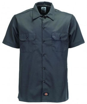 DICKIES - SLIM FIT WORK WOVEN SHIRT CH.GREY