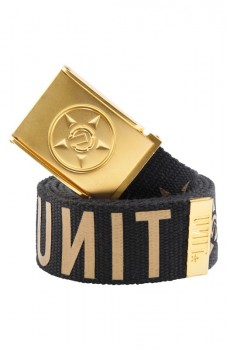 UNIT - WEBSTER BELT BLACK/GOLD ONE SIZE