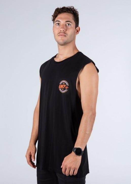 UNIT - BLAZE MUSCLE TANK BLACK