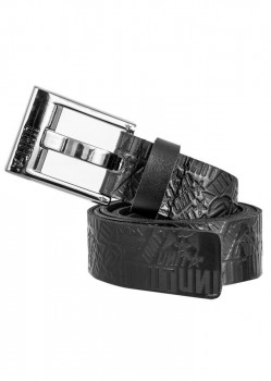 UNIT - ENFORCER LEATHER BELT BLACK