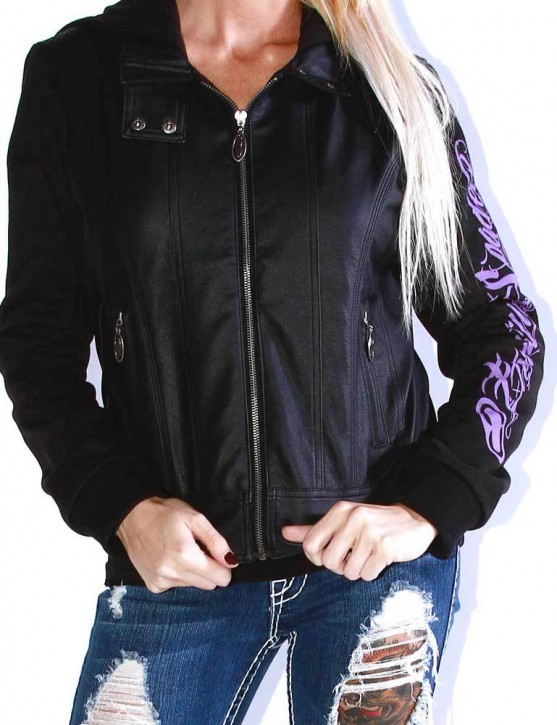 SRH - Betty Zip Up Jacket Black
