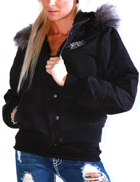 SRH - Bunny Quilted Jacket Black