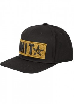 UNIT - QUANTUM CURVED SNAPBACK CAP BLACK