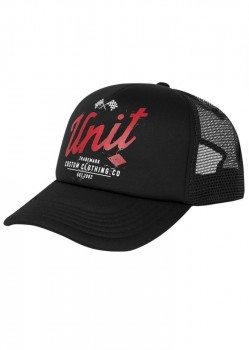 UNIT - DERBY TRUCKER CAP BLACK ONE SIZE