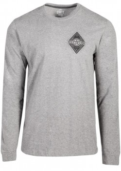 UNIT - DIAMONDS L/S TEE GREY MARLE