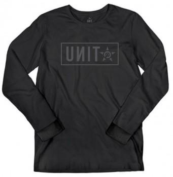 UNIT - STAND L/S TEE BLACK