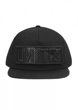 UNIT - RAID FLAT PEAK CAP CHARCOAL ONE SIZE