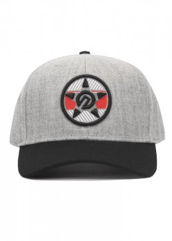 UNIT - REVOLUTION CURVE PEAK SNAPBACK GREY