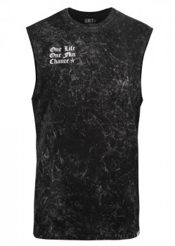 UNIT - ONE CHANCE MUSCLE TEE ACID BLACK