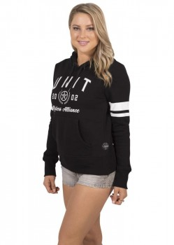 UNIT - SORORITY LADIES HOODY BLACK