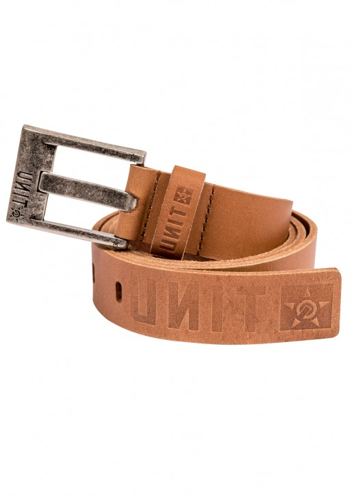 UNIT - STATUS LEATHER BELT TAN