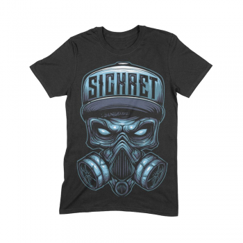 SICKRET - SKULL NEW MEN TEE BLACK