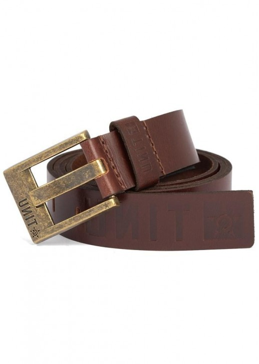 UNIT - FORTITUDE LEATHER BELT DARK CHOC
