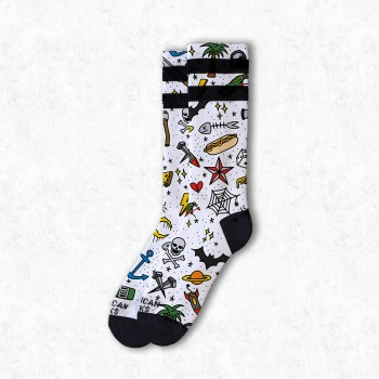 AMERICAN SOCKS - TATTOO BOY MID HIGH L/X