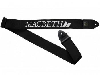 MACBETH - GUITAR STRAP BLACK WHITE ONE SIZE