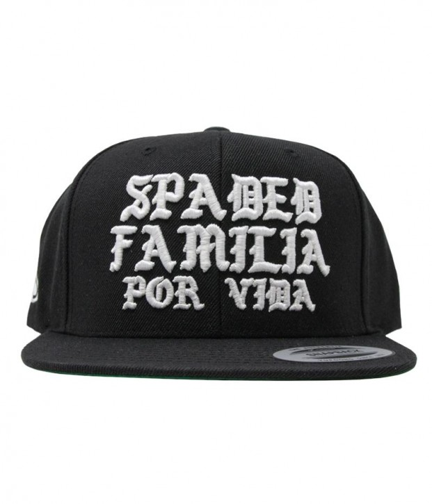 SRH - SPADED FAMILIA SNAPBACK HAT BLACK