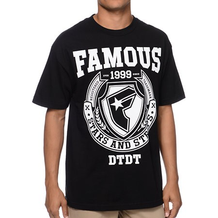 FAMOUS - DIVISION TEE BLACK