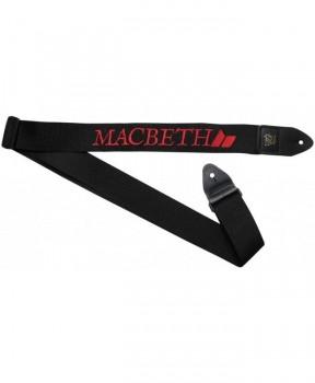 MACBETH - GUITAR STRAP BLACK/RED ONE SIZE