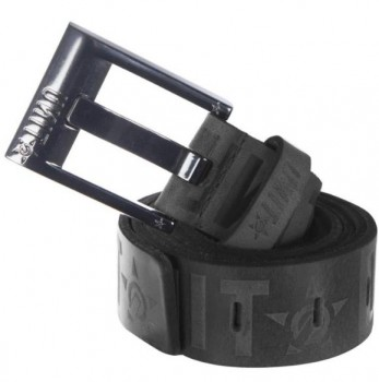 UNIT - CRANK LEATHER BELT BLACK