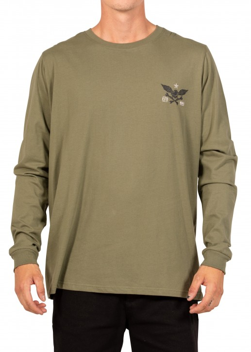 UNIT - ASCEND LONG SLEEVE TEE MILITARY