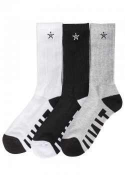 UNIT - HI LUX SOCKS 3 PACK MULTI 7-11