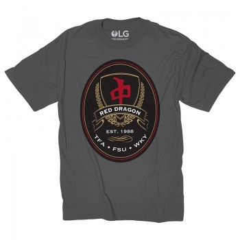 RED DRAGON - FAKE LABELS TEE CHARCOAL XL