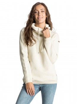 ROXY - WAVES HOODIE LIGHT BEIGE L