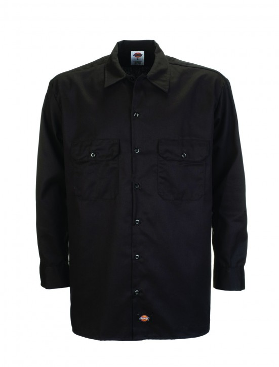DICKIES - LONG SLEEVE WORK SHIRT BLACK