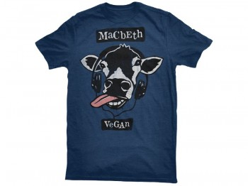 MACBETH VEGAN BEATS TEE HEATHER NAVY