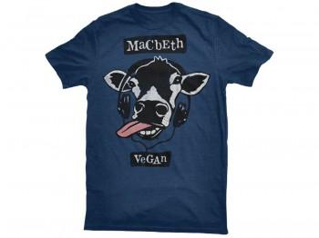 MACBETH VEGAN BEATS TEE HEATHER NAVY