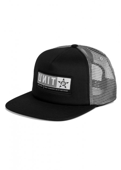 UNIT - STANZA TRUCKER CAP BLACK