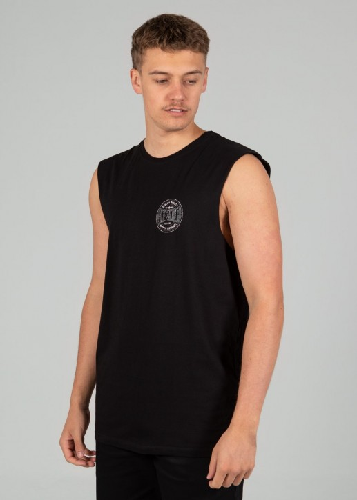 UNIT - BANISH MUSCLE TEE BLACK