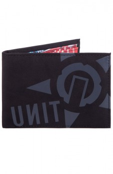UNIT - BADGED WALLET BLACK ONE SIZE