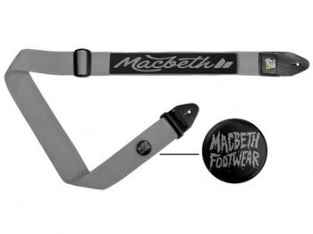 MACBETH - MARLEY GUITAR STRAP LIGHT GREY BLACK