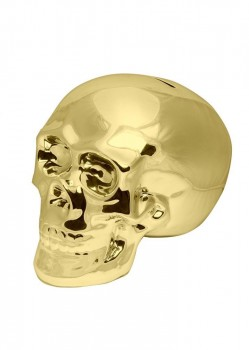 UNIT - SLAVINGS SKULL MONEY BOX GOLD