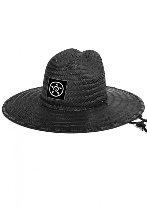UNIT - TRICE STRAW HAT BLACK