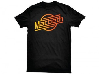 MACBETH - STROKES TEE BLACK/GRADIENT