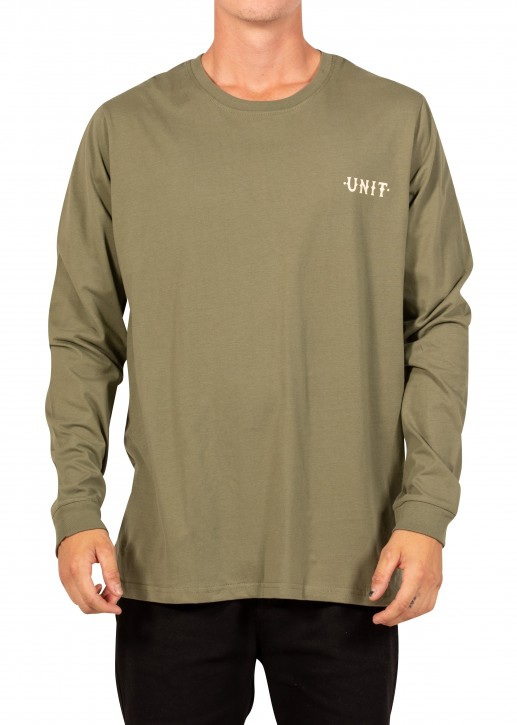 UNIT - PARADISE LONG SLEEVE TEE MILITARY