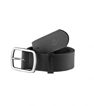 DICKIES - EAGLE LAKE LEATHER BELT BLACK