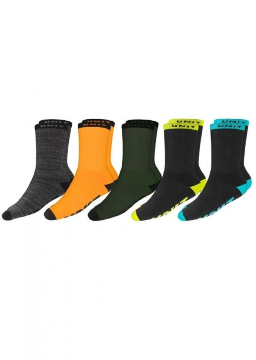 UNIT - QUANTUM HI-LUX SOCKS 5 PACK MULTI