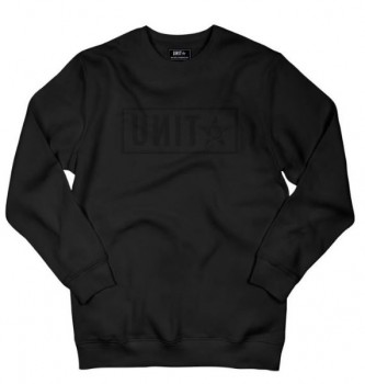 UNIT - BASE CREW SWEATER BLACK M