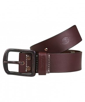 DICKIES - HELMSBURG LEATHER BELT BROWN