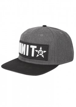 UNIT - QUANTUM CURVED SNAPBACK CAP GREY