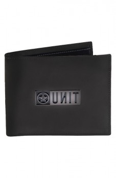 UNIT - RESET DELUXE LEATHER WALLET BLACK ONE SIZE