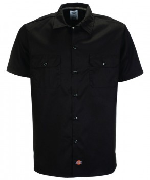 DICKIES - SLIM FIT WORK WOVEN SHIRT BLACK