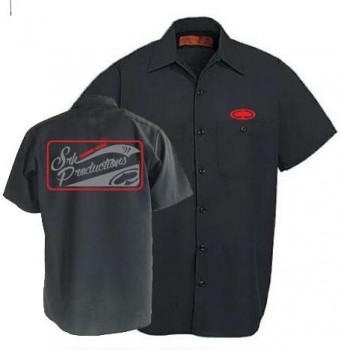SRH - WALKER BUTTON UP BLACK